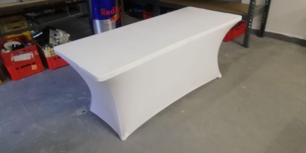 Potah na stůl hranatý, bílý
