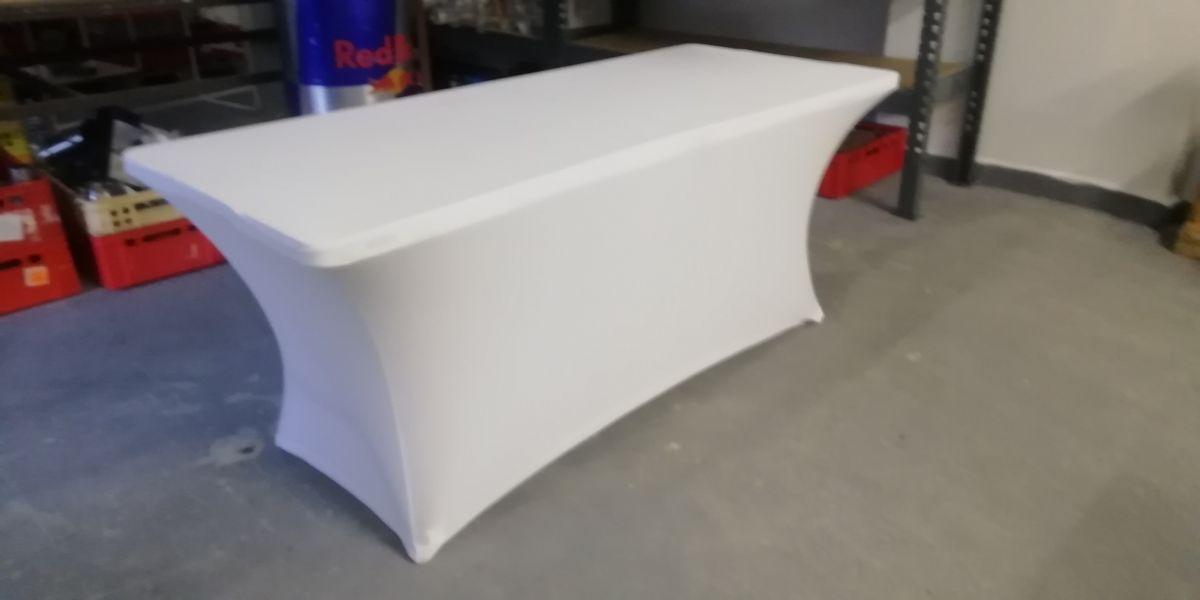 Potah na stůl hranatý bílý