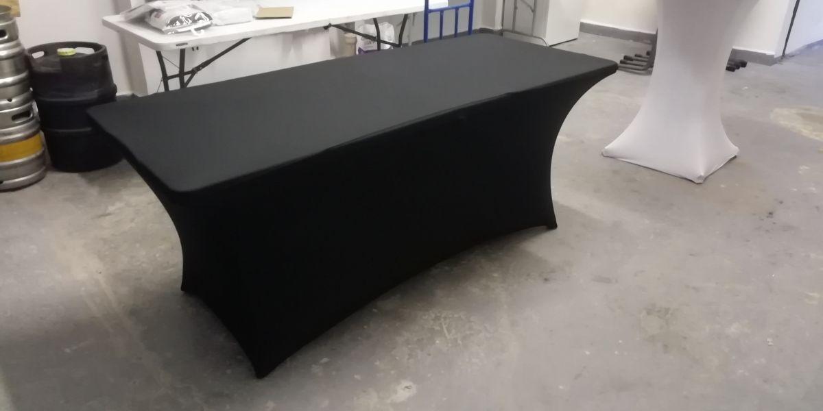 Potah na stůl hranatý černý
