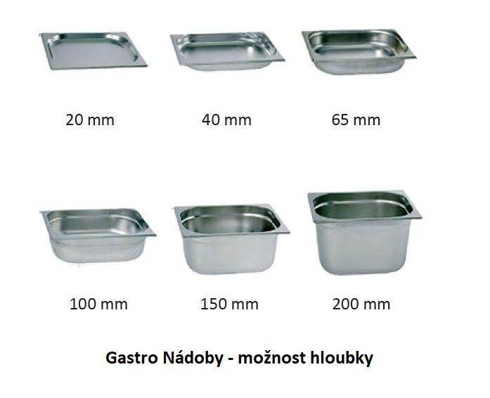 Gastro nádoba EKO - 1/6 100 mm