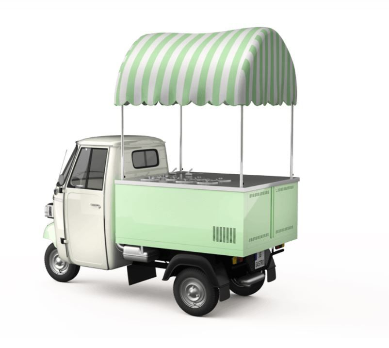 Prodej zmrzliny na cestách PIAGGIO