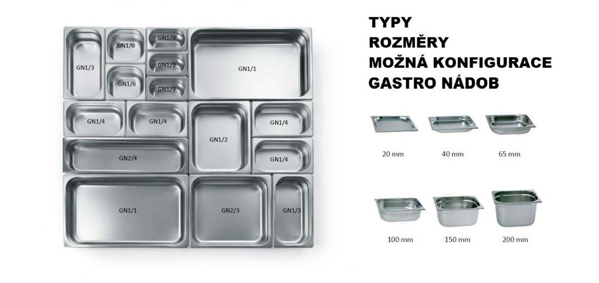 Gastro nádoby PROFI - 2/1 150 mm