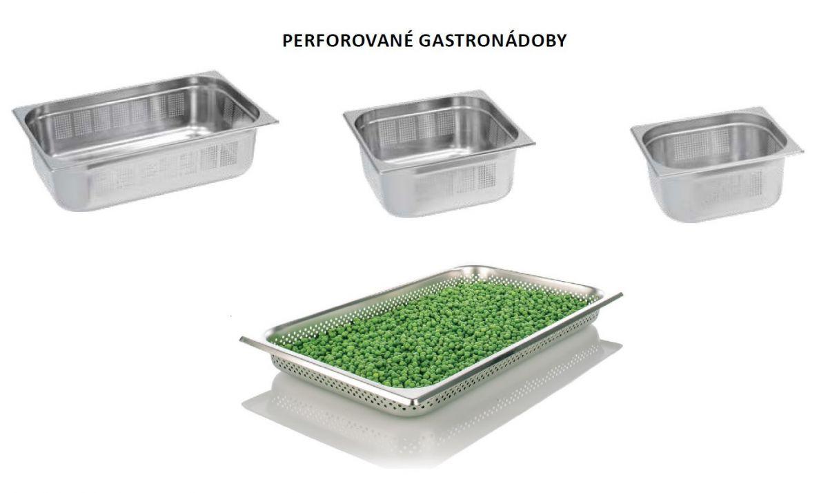 Gastro nádoby PERFOROVANÉ - 2/3 100 mm