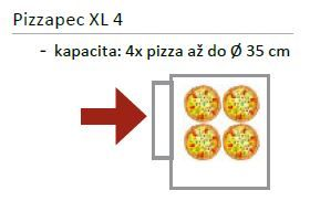 Pizza pec EKO 4 x pr. 35 cm