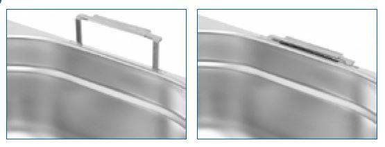Gastro nádoby PROFI s úchyty - 1/4 200 mm